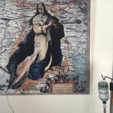 """detalle 2 de """"TRANSFUSIÓN DE MURILLO"""" (óleo sobre lienzo .Gotero de Suero. EXPOSICIÓN EL LEGADO DE MURILLO. PARLAMENTO DE ANDALUCIA."""