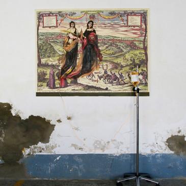 """""""TRANSFUSIÓN DE MURILLO"""" (óleo sobre lienzo .Gotero de Suero. 131x100 cm. EXPOSICIÓN EL LEGADO DE MURILLO. PARLAMENTO DE ANDALUCIA.2 (mayo 2017)"""